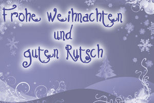 Frohe Weihnachten. Поздравления с Рождестом по-немецки